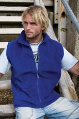 click here to view products in the Full Zip Fleece Bodywarmer (Gilet) category
