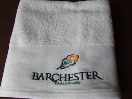 click here to view products in the Bath Towel - Embroidered Company logo category