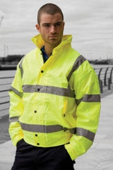 click here to view products in the Hi-Vis Bomber Jacket category